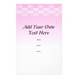 Pale Pink and White Squares Pattern. Flyer Design