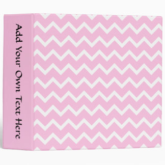 Pale Pink and White Zigzag Pattern. Vinyl Binders