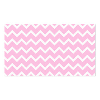 Pale Pink and White Zigzag Pattern. Business Cards