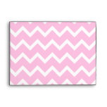 Pale Pink and White Zigzag Pattern. Envelope