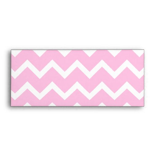 Pale Pink and White Zigzag Pattern. Envelopes