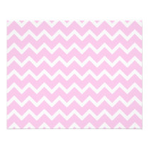 Pale Pink and White Zigzag Pattern. Flyer