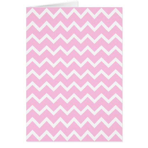 Pale Pink and White Zigzag Pattern. Greeting Card