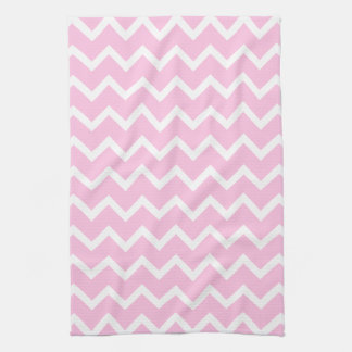 Pale Pink and White Zigzag Pattern. Hand Towels