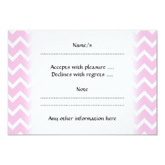 "Pale Pink and White Zigzag Pattern. 3.5"" X 5"" Invitation Card"