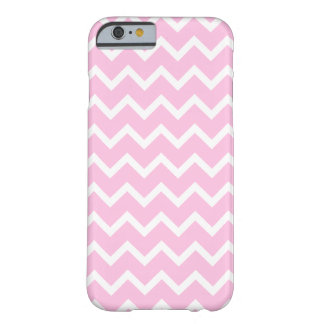 Pale Pink and White Zigzag Pattern. iPhone 6 Case