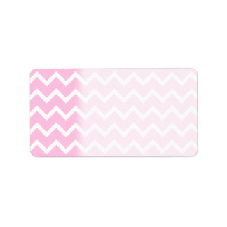 Pale Pink and White Zigzag Pattern. Label