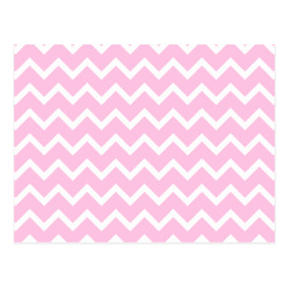 Pale Pink and White Zigzag Pattern. Postcards
