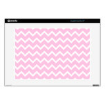 Pale Pink and White Zigzag Pattern. Skin For Laptop