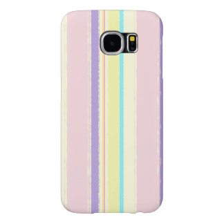 Pale Pink and Yellow Watercolor Stripes Samsung Galaxy S6 Case
