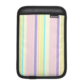 Pale Pink and Yellow Watercolor Stripes Sleeve For iPad Mini