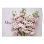 pale pink blossoms Mother's Day card