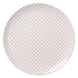 Pale Pink - Blush Pink Polka Dot Plate