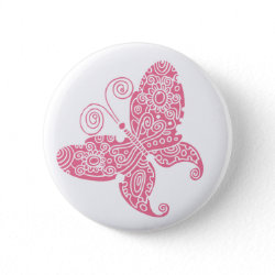 Pale Pink Butterfly Button button