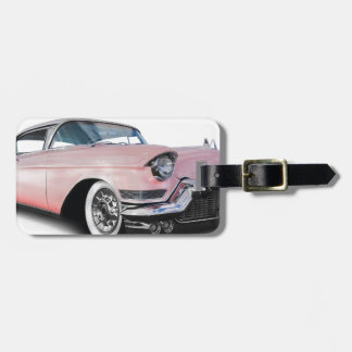 Pale Pink Cadillac Luggage Tag
