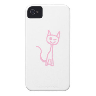 Pale Pink Cat Winking Blackberry Cases