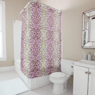 Pale Pink Cheetah Pop Art Cat Animal Print Shower Curtain