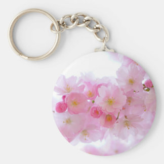 Pale Pink Cherry Blossoms Keychain