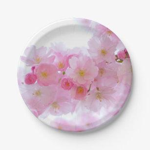 Pale Pink Cherry Blossoms Paper Plates  sc 1 st  Zazzle & Cherry Blossom Plates | Zazzle