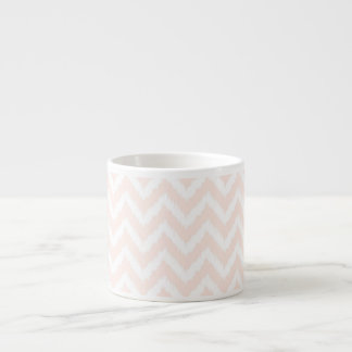 Pale Pink Chevron Ikat Pattern Espresso Cup