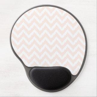 Pale Pink Chevron Ikat Pattern Gel Mouse Pad