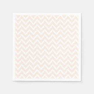 Pale Pink Chevron Ikat Pattern Napkin