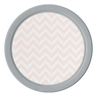 Pale Pink Chevron Ikat Pattern Poker Chips