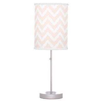 Pale Pink Chevron Ikat Pattern Table Lamp