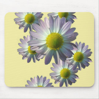 Pale Pink Chrysanthemum Design Mouse Pad