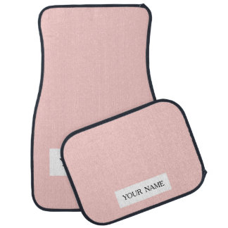 Pale Pink Classic Colored Car Floor Mat