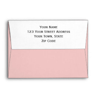Pale Pink Classic Colored Envelope