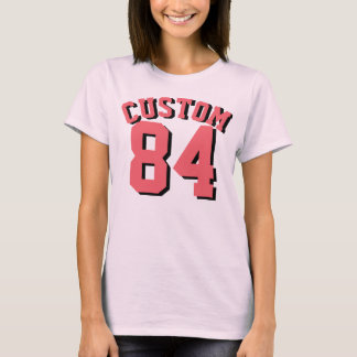 Pale Pink & Coral Adults | Sports Jersey Design T-Shirt
