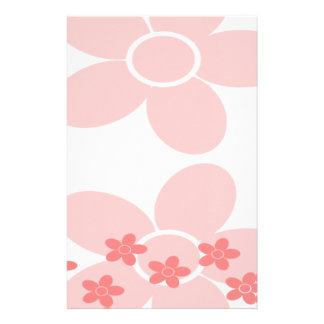 Pale Pink Daisy Pattern Stationery