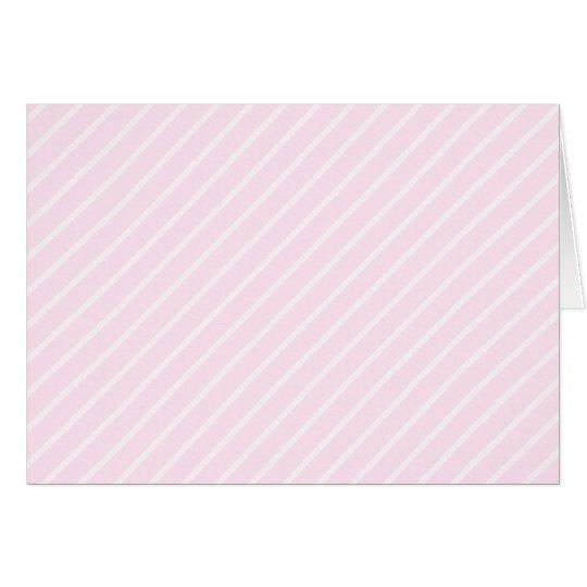 Pale pink Diagonal Stripes. Card
