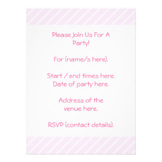 Pale pink Diagonal Stripes Invitation
