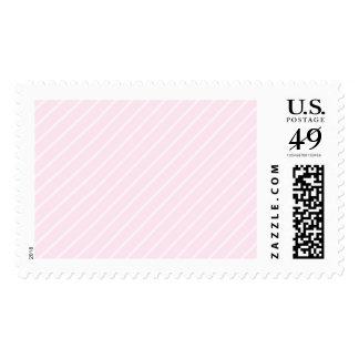 Pale pink Diagonal Stripes. Postage Stamps