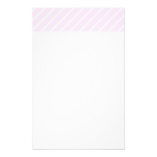 Pale pink Diagonal Stripes. Stationery Design