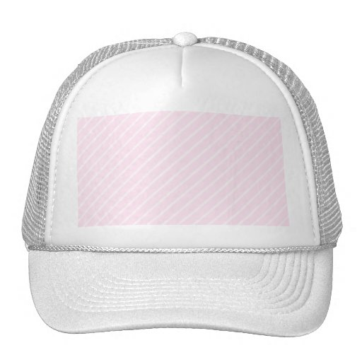 Pale pink Diagonal Stripes. Trucker Hat