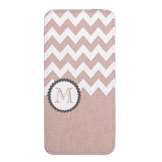 Pale pink elegant chic chevron monogram