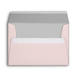 Pale Pink Envelope With Gray Liner