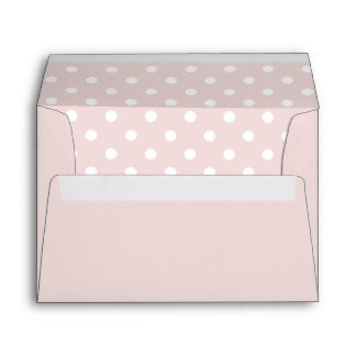 Pale Pink Envelope With Pale Pink Polka Dot Print