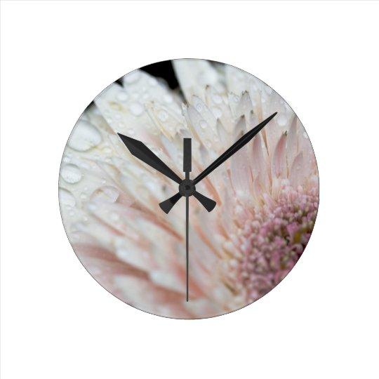 Pale pink flower clock zazzle pale pink flower clock mightylinksfo