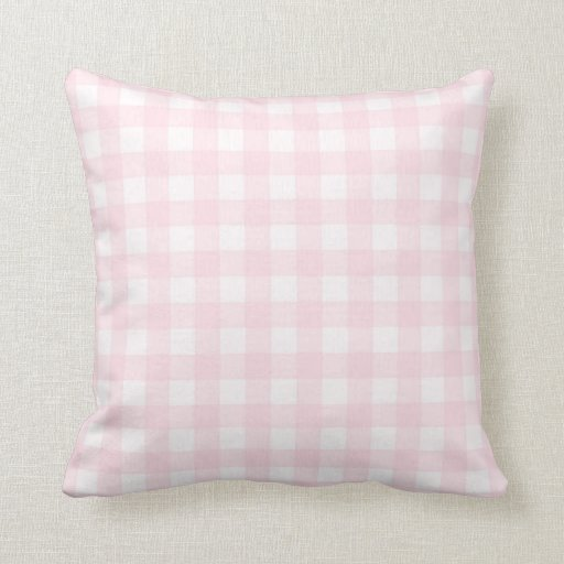 pale pink gingham checkered pattern throw pillow zazzle. Black Bedroom Furniture Sets. Home Design Ideas