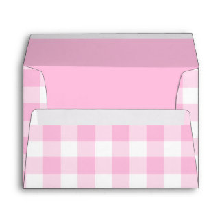 Pale pink gingham cute envelope