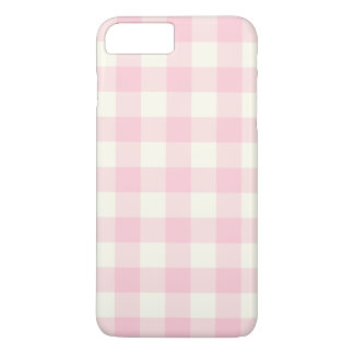 Pale Pink Gingham iPhone 7 Plus Case