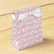 pale pink,girly,cute,floral,butterflies,pattern,ch favor box