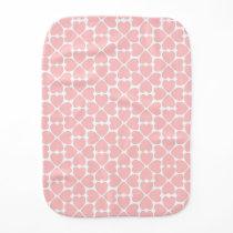 Pale Pink Hearts Burp Cloth