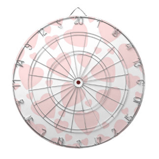 Pale Pink Hearts Dartboard With Darts