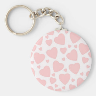 Pale Pink Hearts Keychain