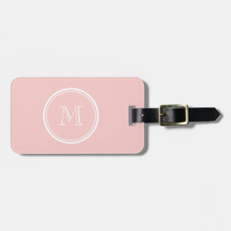 Pale Pink High End Colored Monogram Bag Tag
